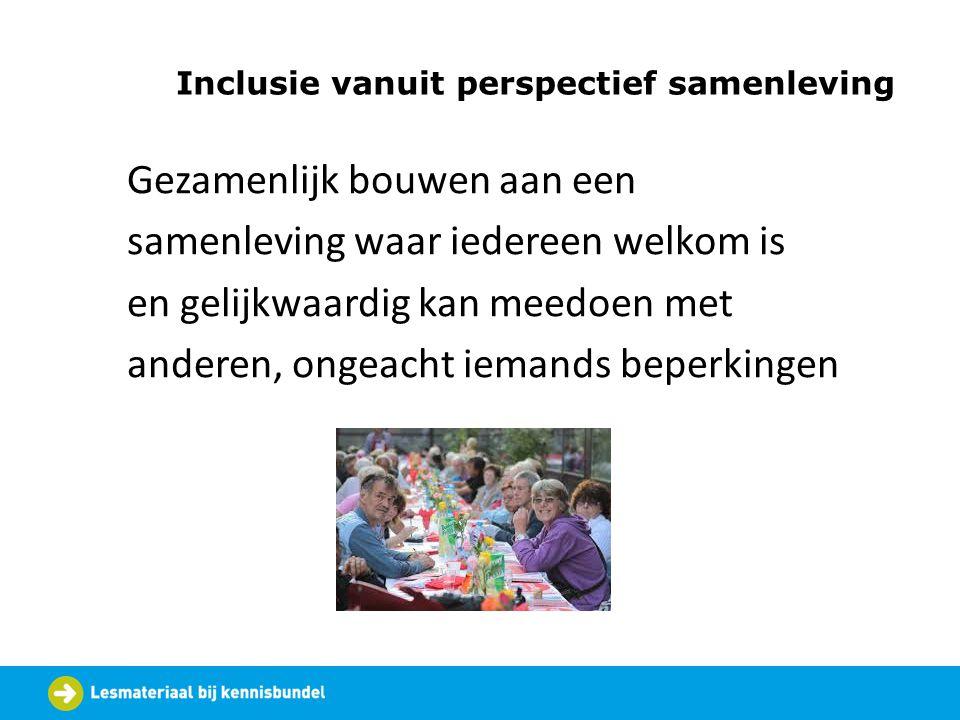 Inclusie vanuit perspectief samenleving