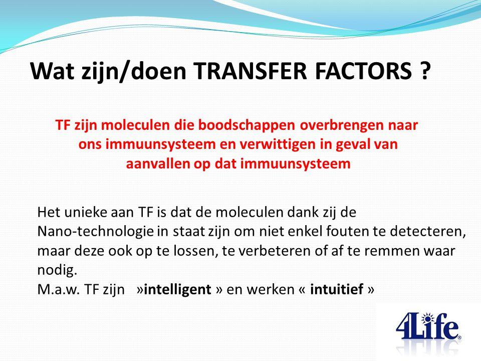 Wat zijn/doen TRANSFER FACTORS