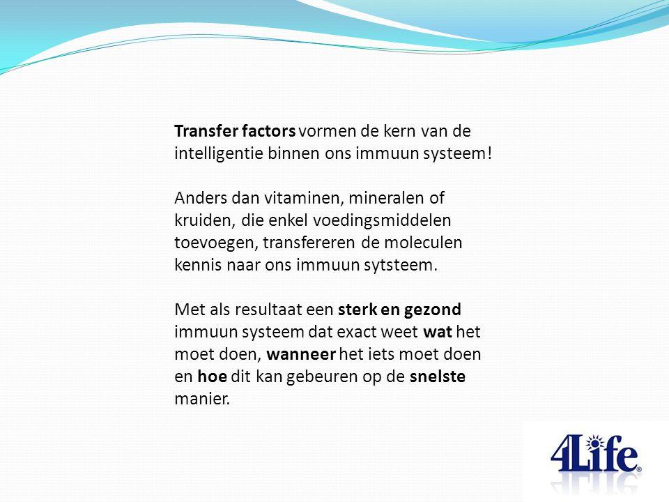 Transfer factors vormen de kern van de intelligentie binnen ons immuun systeem!