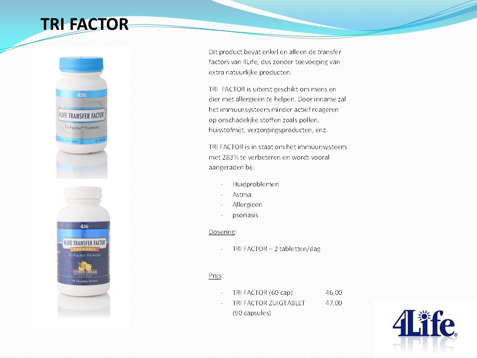 TRI FACTOR Designed by CQE-Management.com