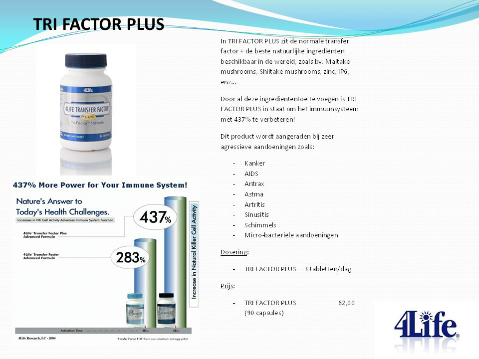 TRI FACTOR PLUS Designed by CQE-Management.com