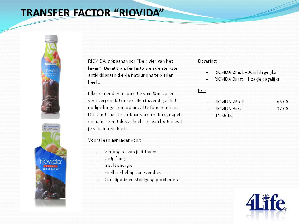 TRANSFER FACTOR RIOVIDA