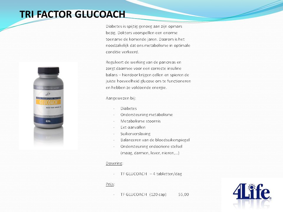 TRI FACTOR GLUCOACH Designed by CQE-Management.com