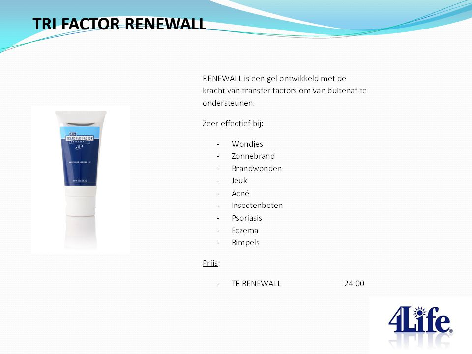 TRI FACTOR RENEWALL Designed by CQE-Management.com