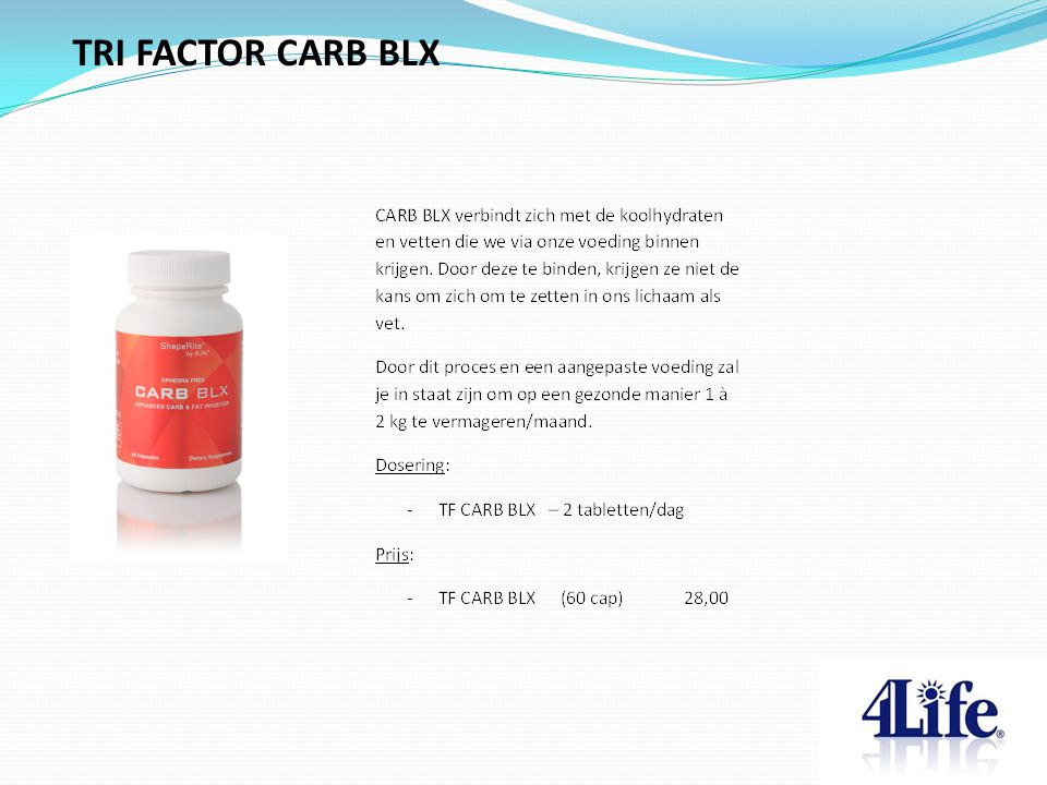 TRI FACTOR CARB BLX Designed by CQE-Management.com