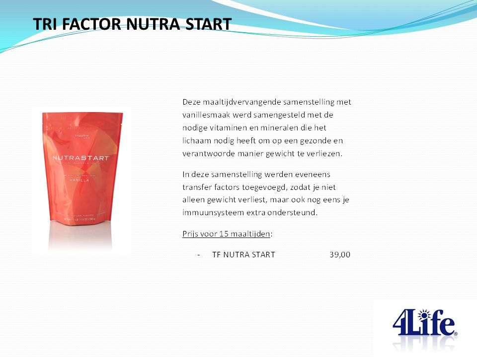 TRI FACTOR NUTRA START Designed by CQE-Management.com