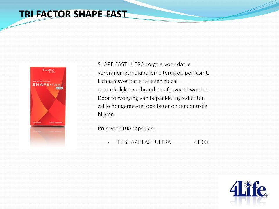TRI FACTOR SHAPE FAST Designed by CQE-Management.com