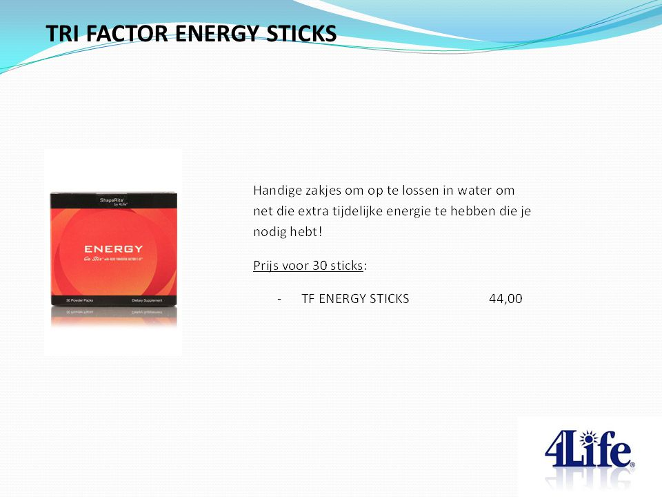 TRI FACTOR ENERGY STICKS