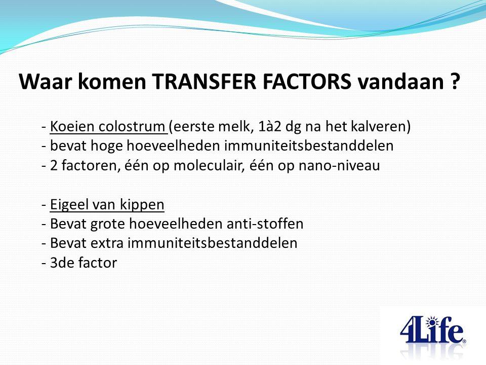 Waar komen TRANSFER FACTORS vandaan