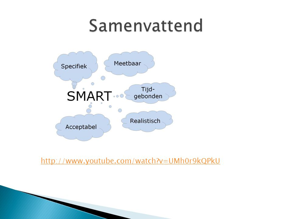 Samenvattend http://www.youtube.com/watch v=UMh0r9kQPkU