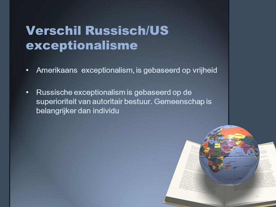 Verschil Russisch/US exceptionalisme