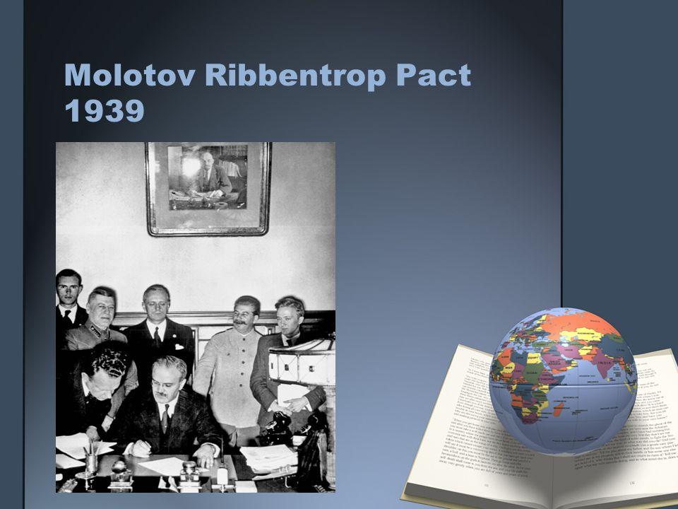 Molotov Ribbentrop Pact 1939