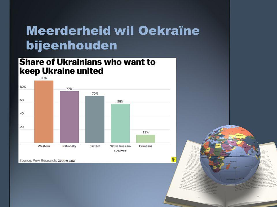 Meerderheid wil Oekraïne bijeenhouden