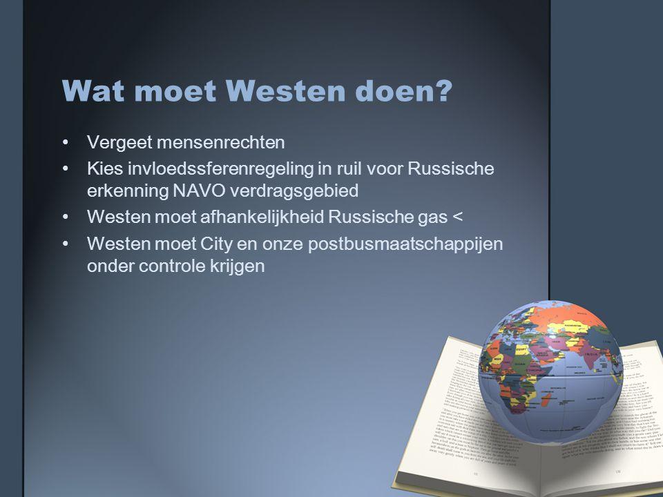 Wat moet Westen doen Vergeet mensenrechten
