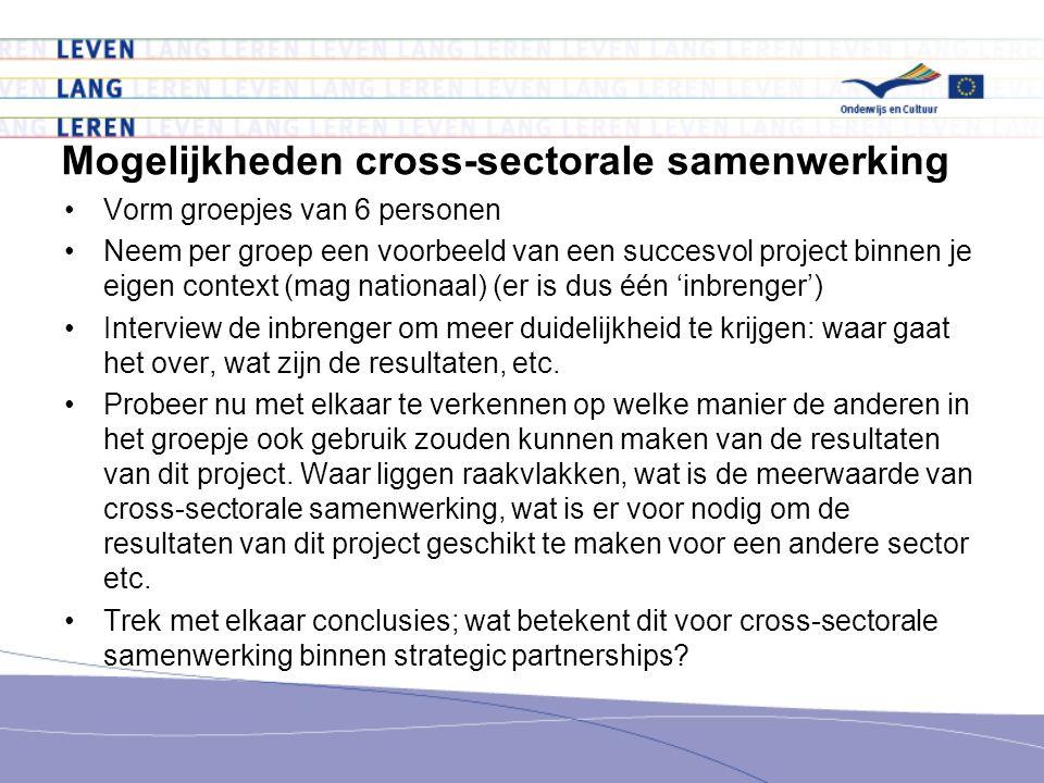 Mogelijkheden cross-sectorale samenwerking
