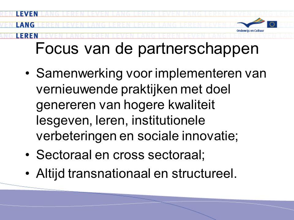 Focus van de partnerschappen