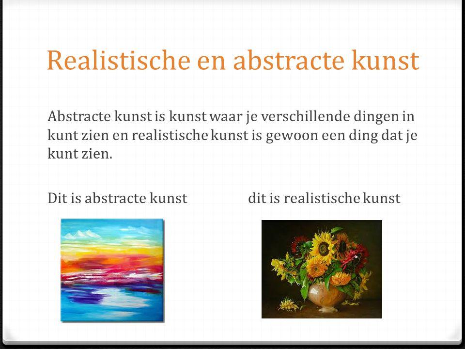 Realistische en abstracte kunst