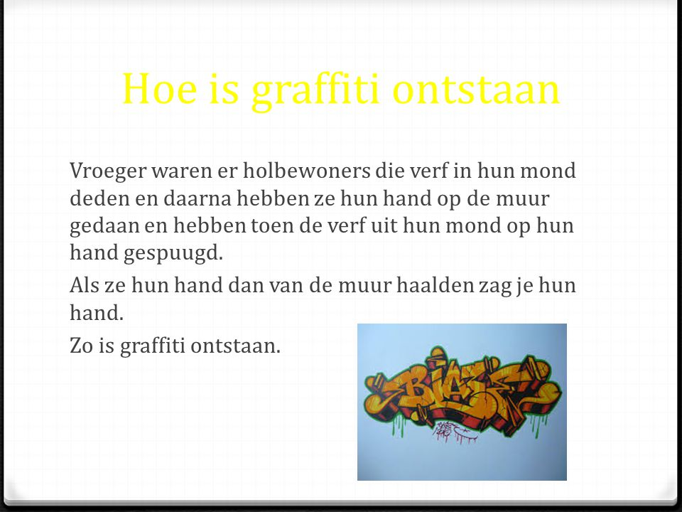 Hoe is graffiti ontstaan