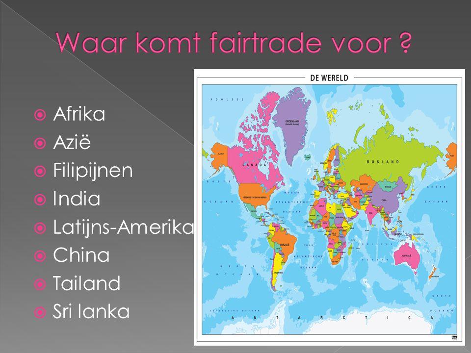 Waar komt fairtrade voor