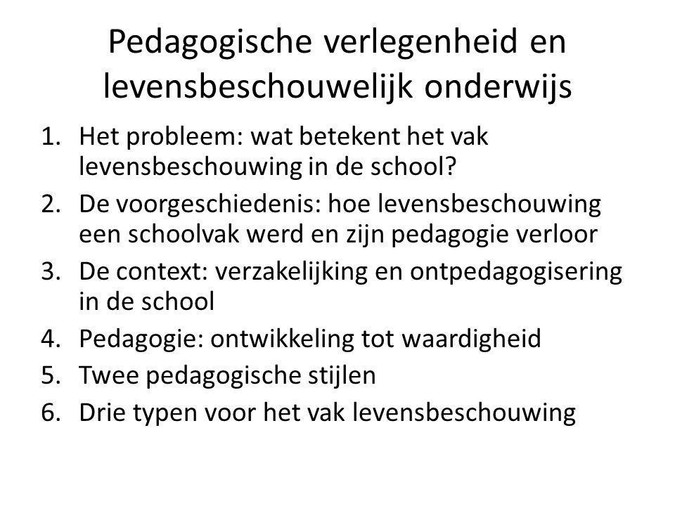Pedagogische verlegenheid en levensbeschouwelijk onderwijs
