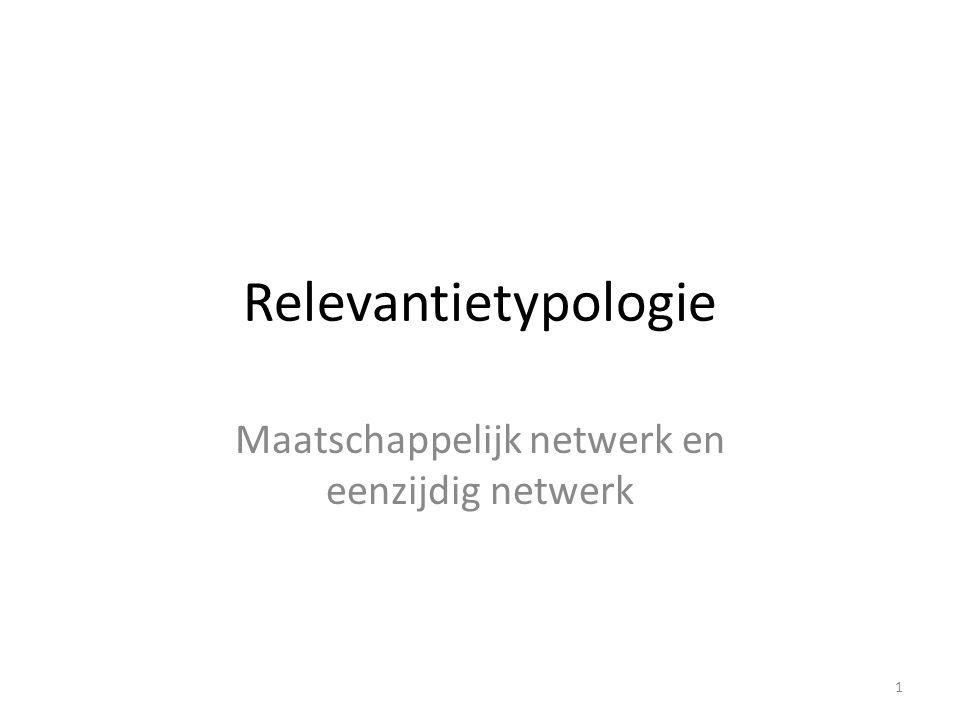 Maatschappelijk netwerk en eenzijdig netwerk