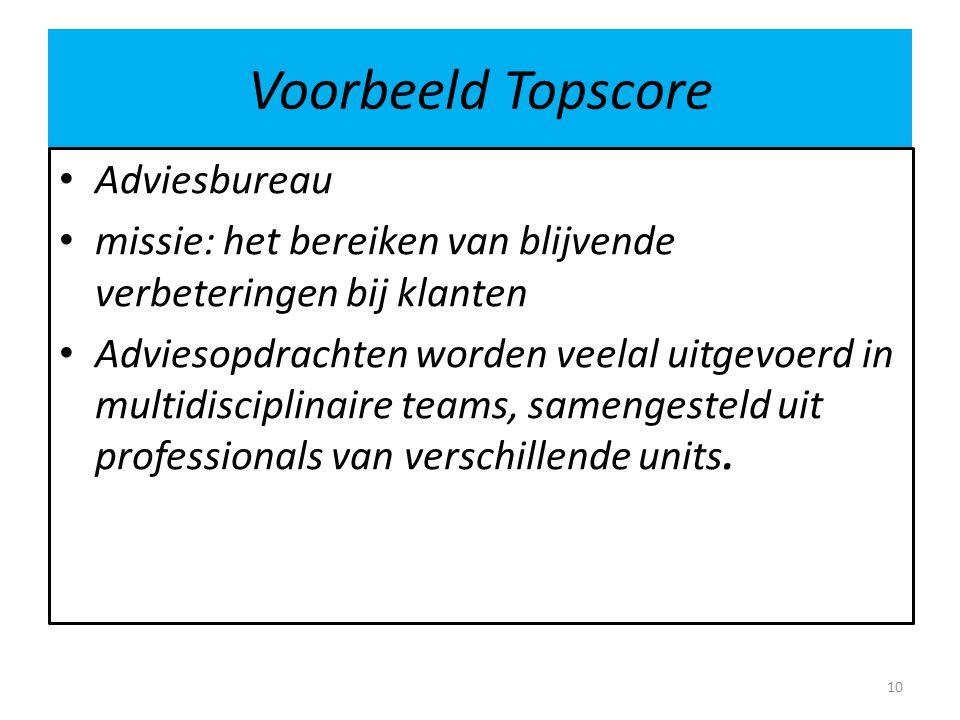 Voorbeeld Topscore Adviesbureau