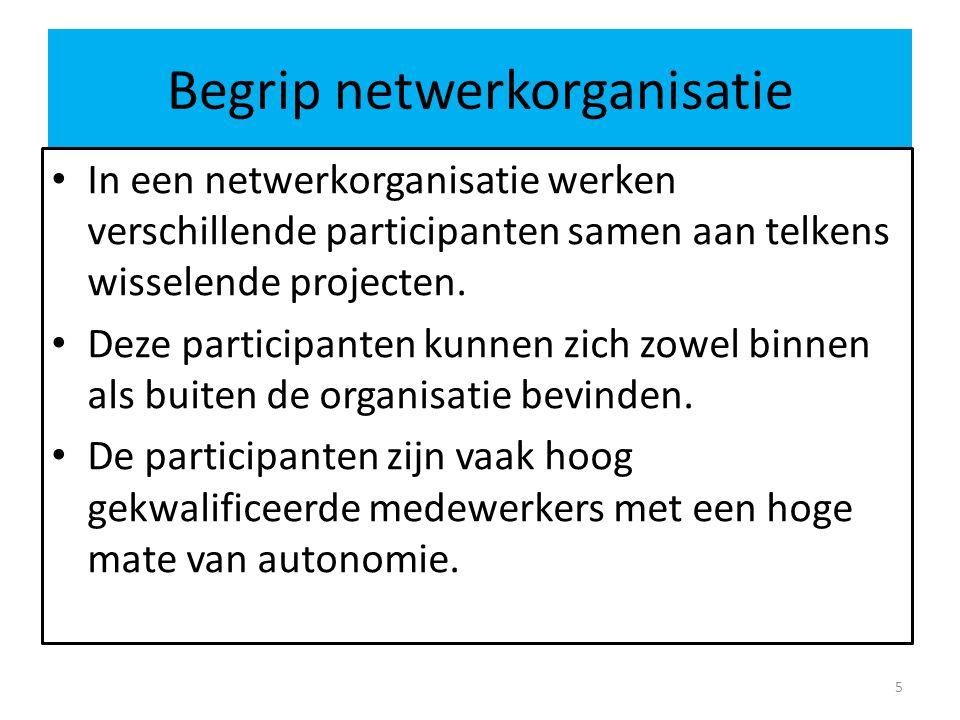 Begrip netwerkorganisatie