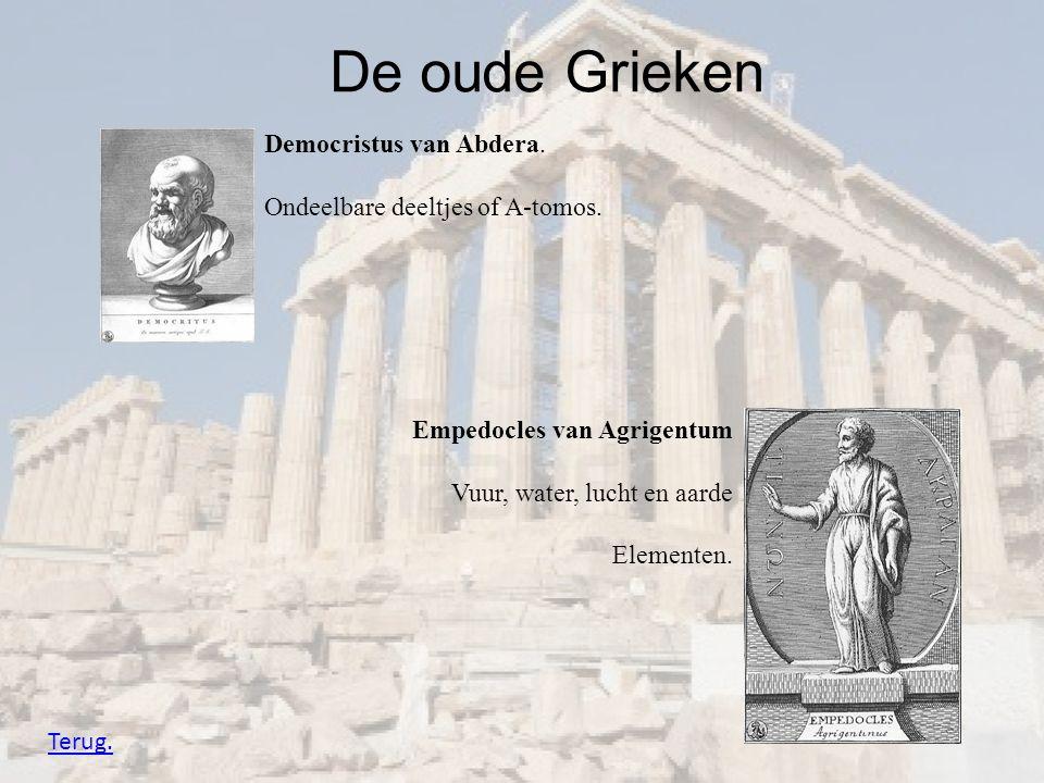 De oude Grieken Democristus van Abdera.