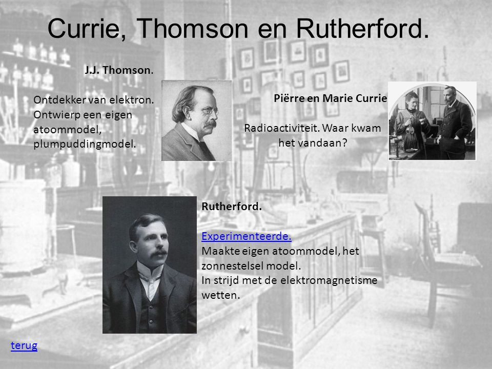 Currie, Thomson en Rutherford.