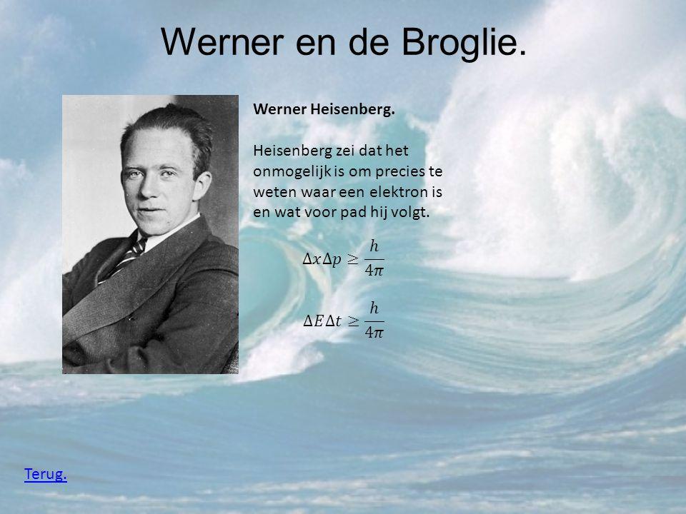 Werner en de Broglie. Werner Heisenberg.