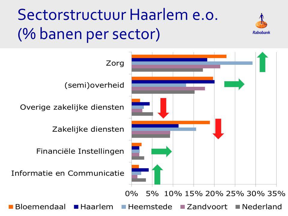 Sectorstructuur Haarlem e.o. (% banen per sector)