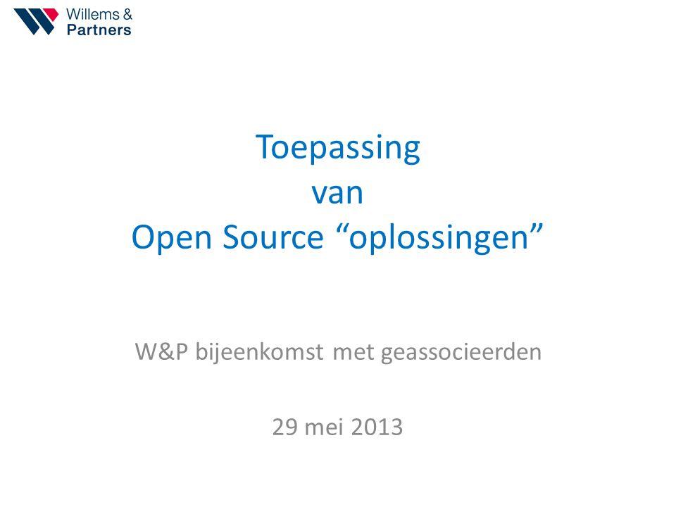Toepassing van Open Source oplossingen