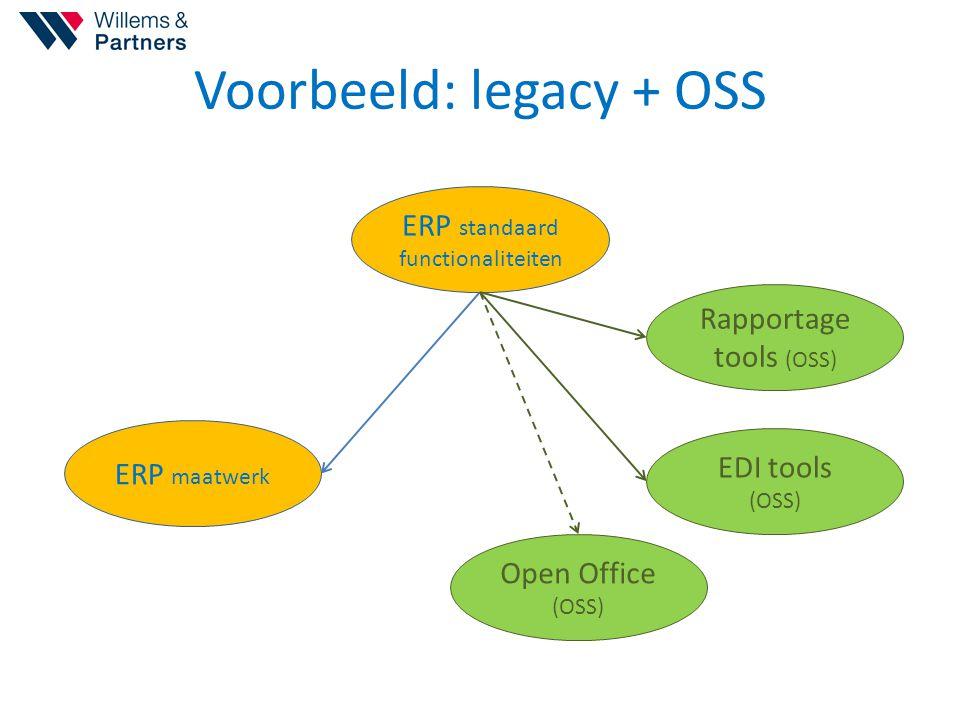 Voorbeeld: legacy + OSS