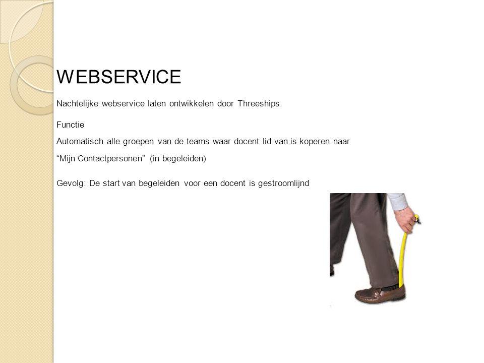 WEBSERVICE Nachtelijke webservice laten ontwikkelen door Threeships.