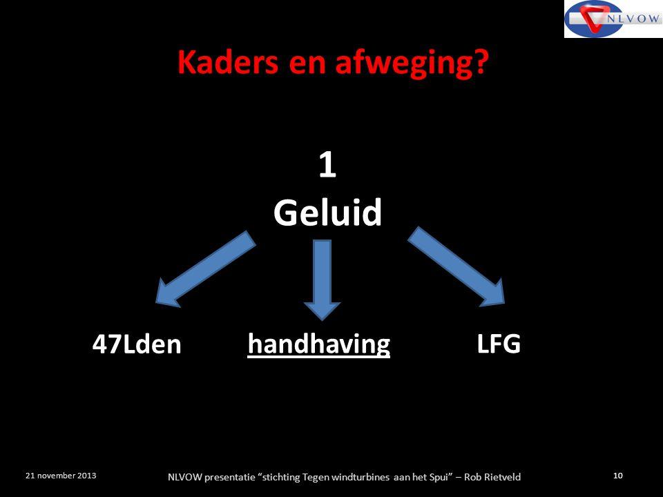 1 Geluid Kaders en afweging 47Lden LFG handhaving
