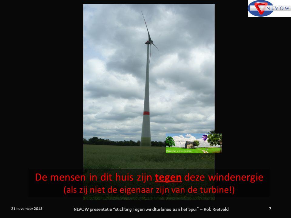 De mensen in dit huis zijn tegen deze windenergie