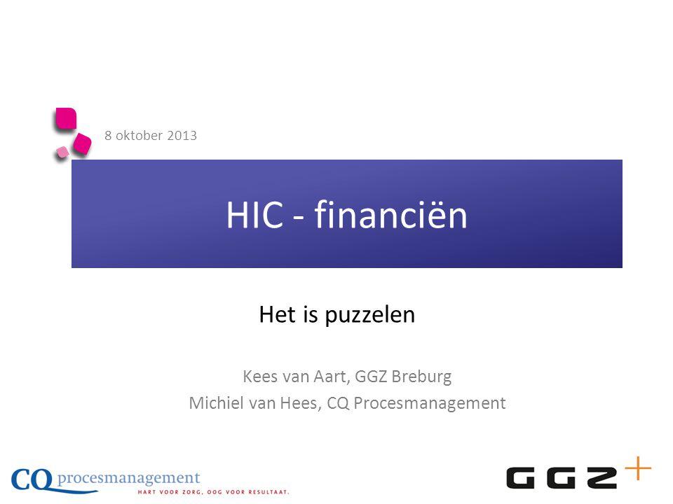 HIC - financiën Het is puzzelen Kees van Aart, GGZ Breburg