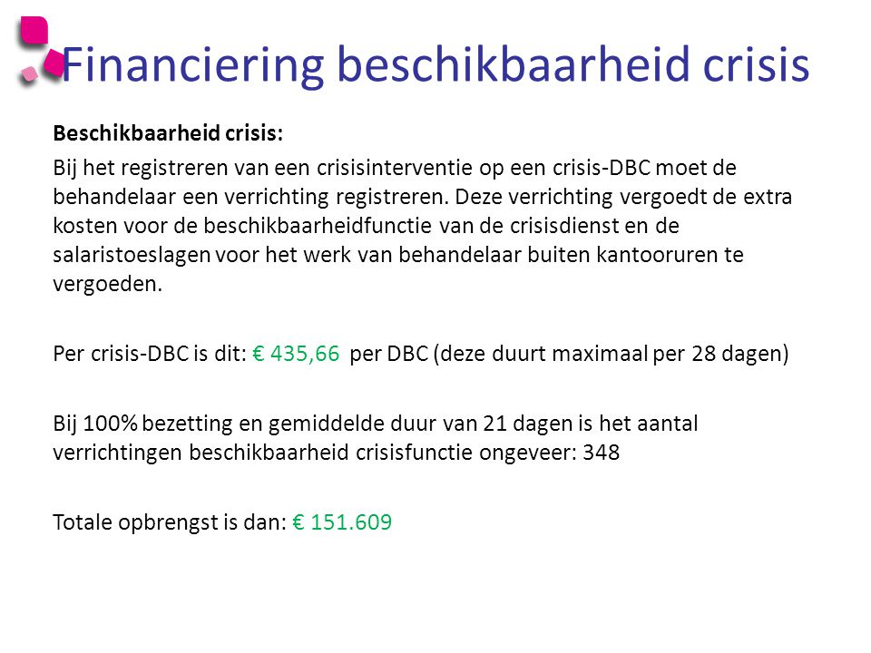 Financiering beschikbaarheid crisis