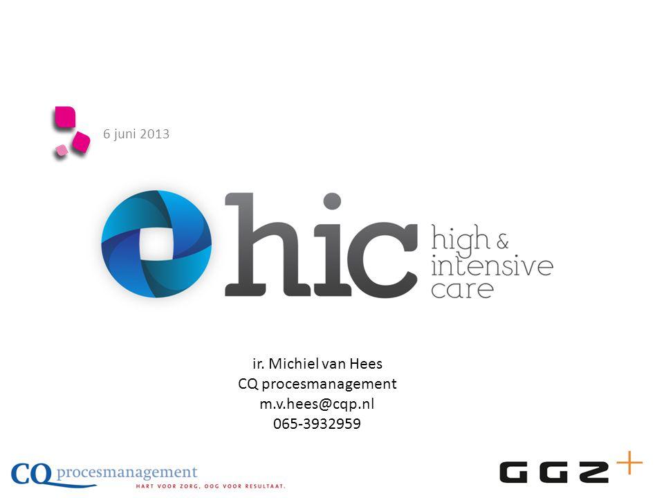 ir. Michiel van Hees CQ procesmanagement m.v.hees@cqp.nl 065-3932959