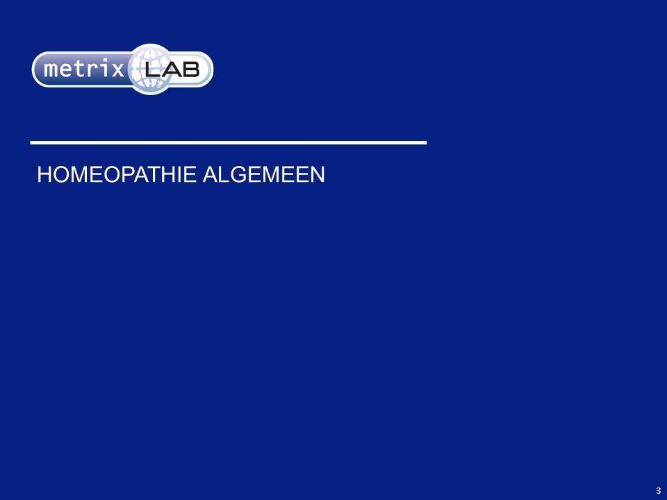 HOMEOPATHIE ALGEMEEN