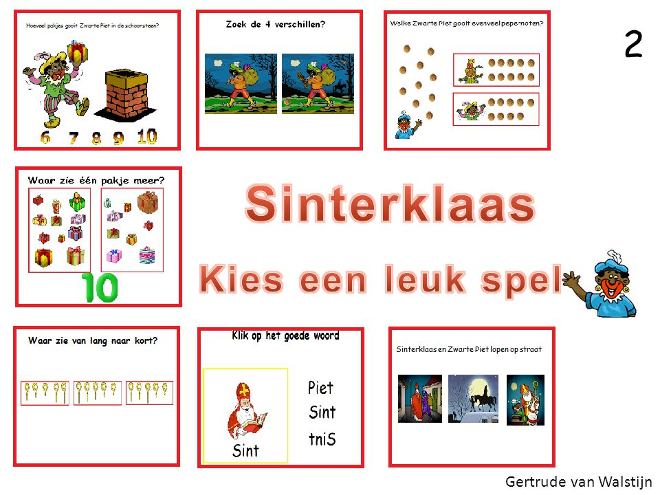 2 Sinterklaas Kies een leuk spel Gertrude van Walstijn