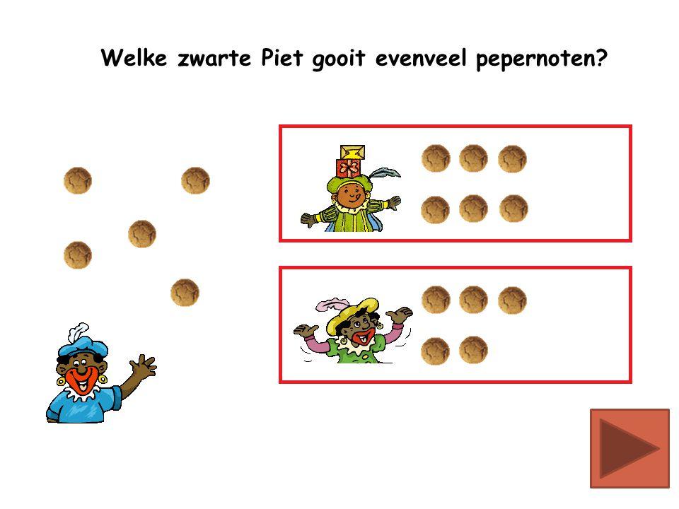 Welke zwarte Piet gooit evenveel pepernoten