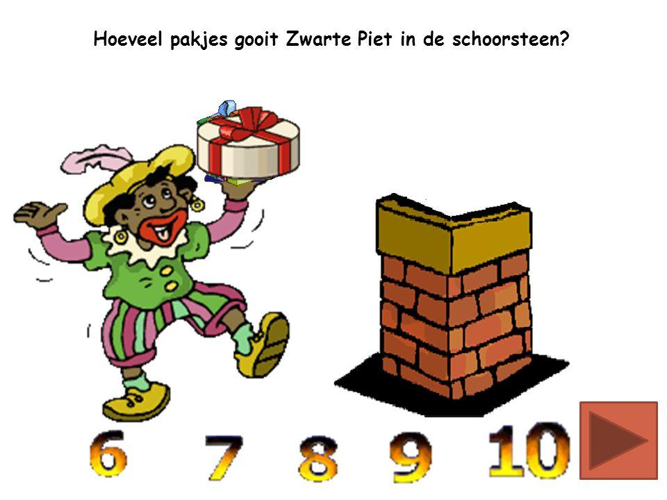 Hoeveel pakjes gooit Zwarte Piet in de schoorsteen