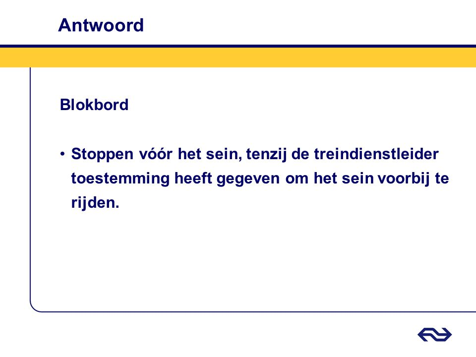 Antwoord Blokbord.