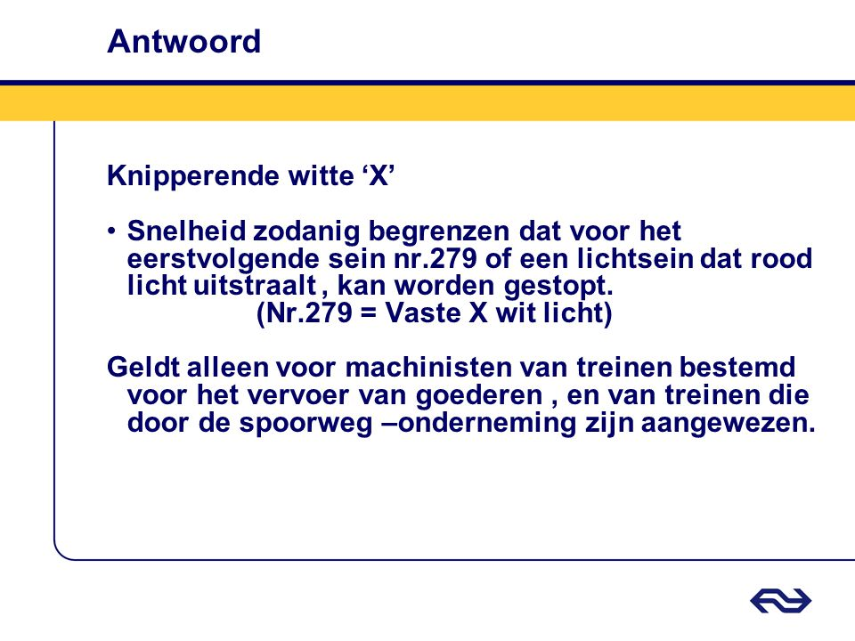 Antwoord Knipperende witte 'X'