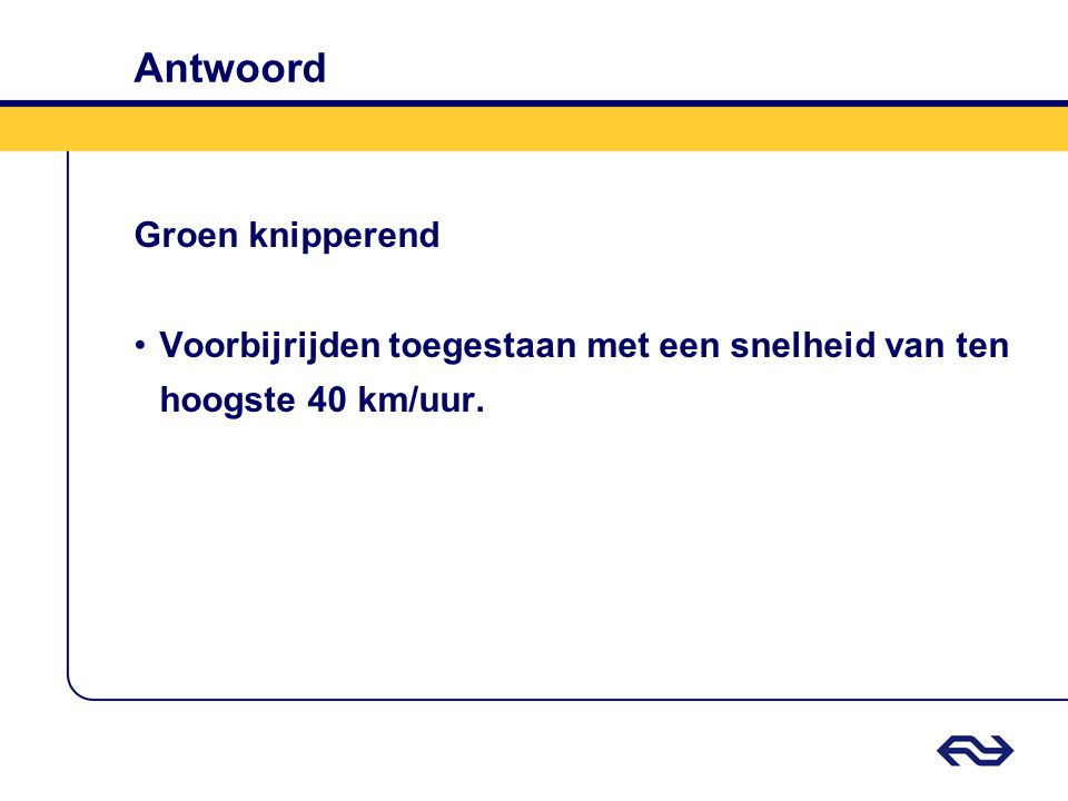Antwoord Groen knipperend