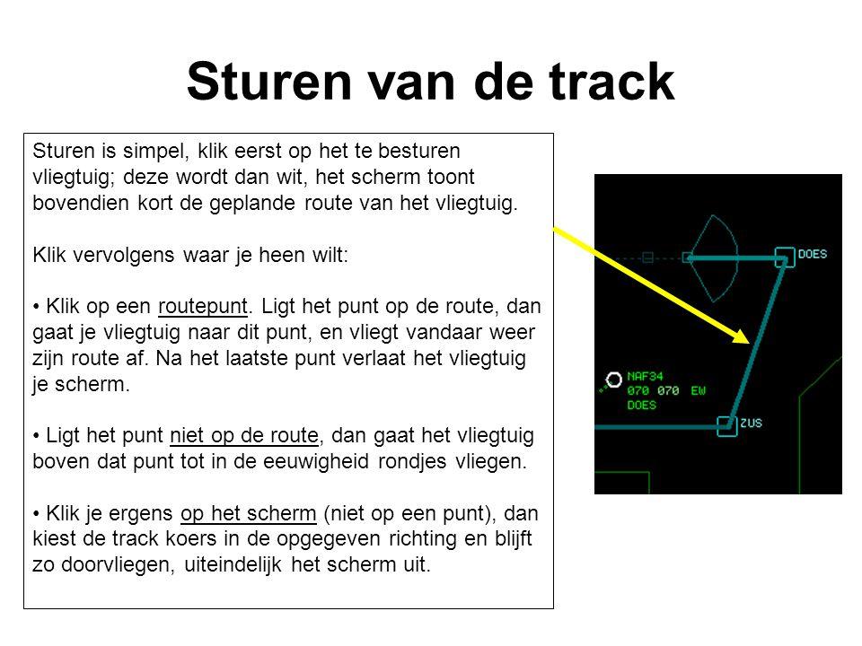 Sturen van de track