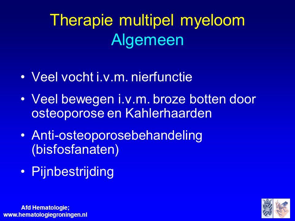 Therapie multipel myeloom Algemeen