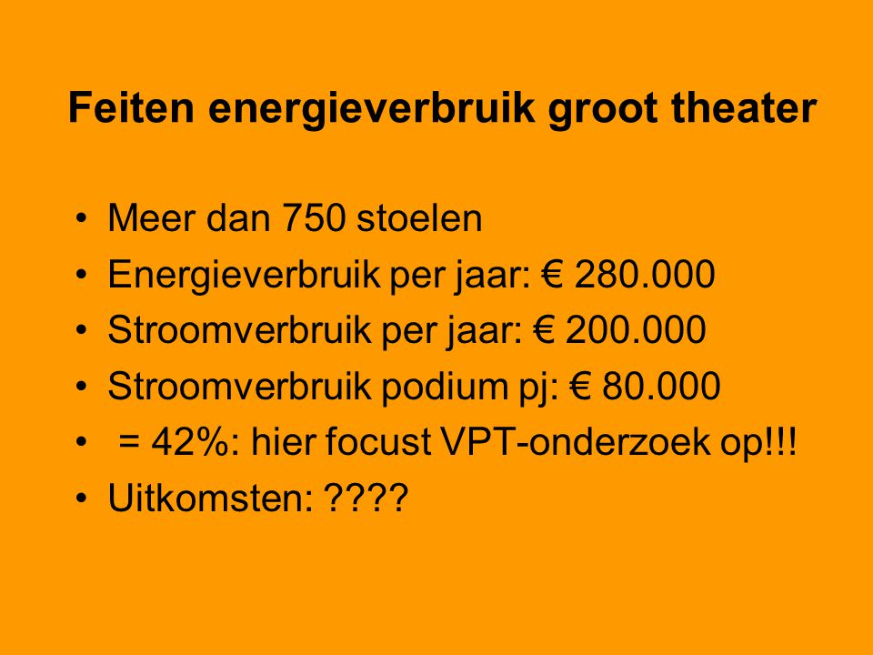 Feiten energieverbruik groot theater
