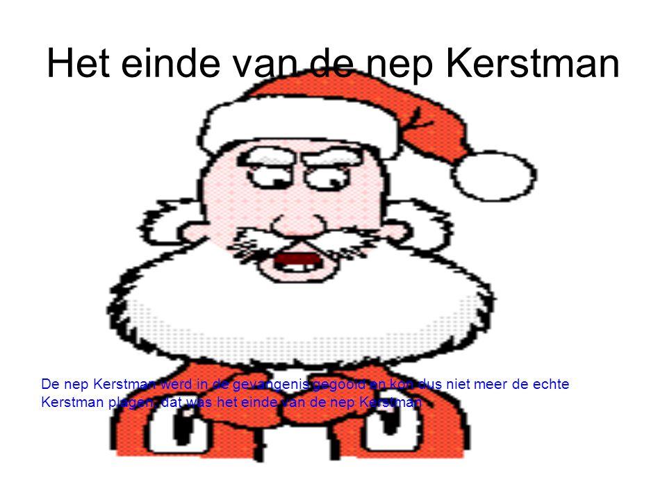 Het einde van de nep Kerstman